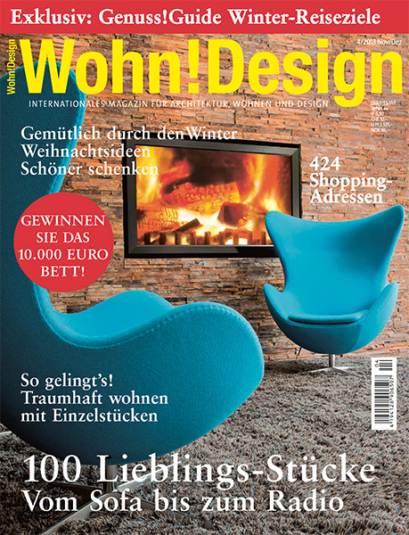 U-LIGHT published in Wohn!Design magazine